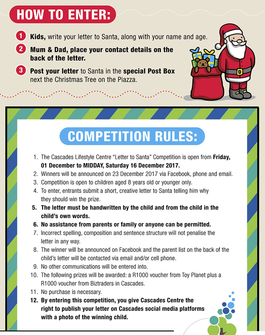 Write a letter to santa rules cascades lifestyle centre write a letter to santa rules spiritdancerdesigns Choice Image
