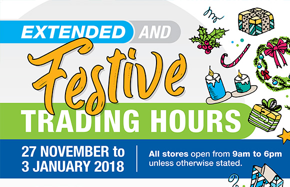 Christmas 2017 festive opening hours
