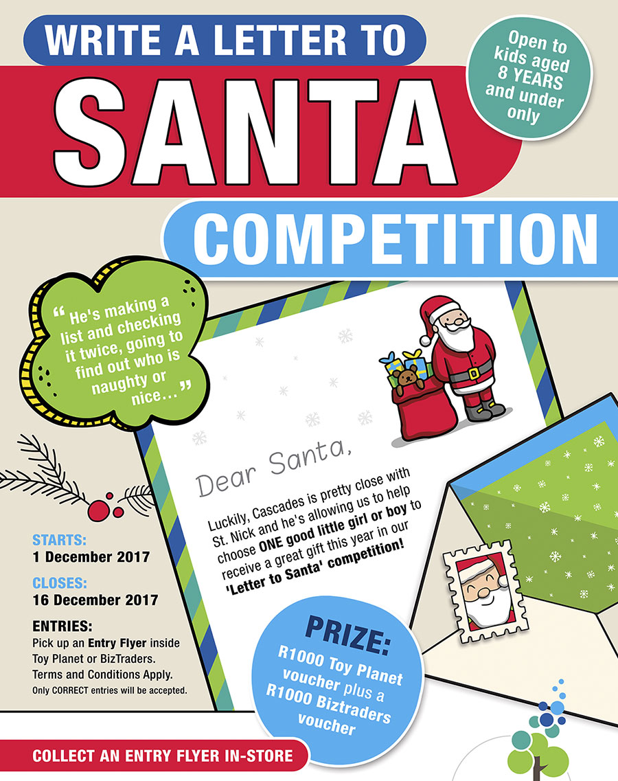 Competition - Write a letter to Santa & win a R2000 voucher for toys ...
