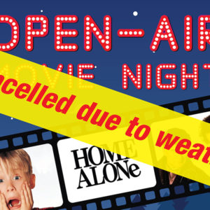 CANCELLED: Open-air movie night at Cascades