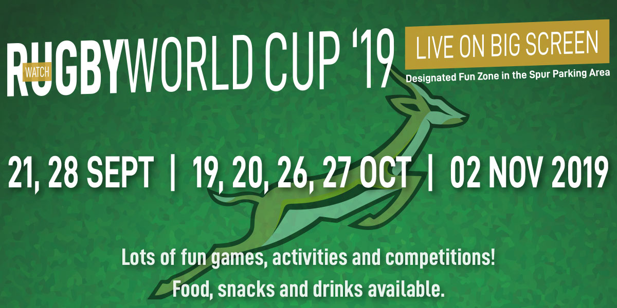 Watch the Rugby World Cup LIVE on big screen